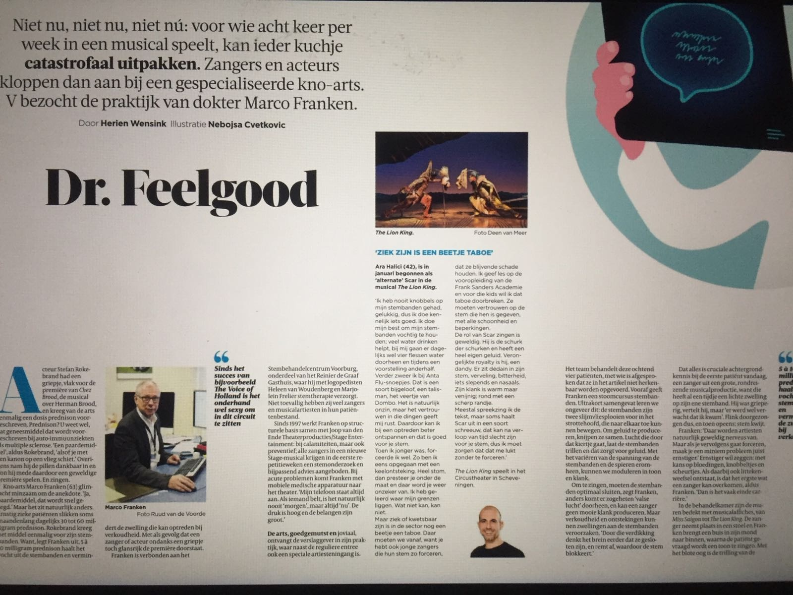 Dr. Feelgood. De Volkskrant.